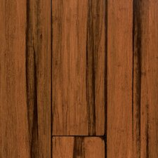 "Natural Bamboo Expressions 5-1/4"" Solid Locking Strand Woven Bamboo Flooring in Handscraped Antique Black"