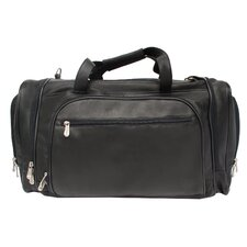 "20"" Leather Multi-Compartment Carry-On Duffel"