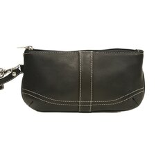 Ladies Large Wristlet in Black