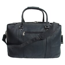 "20"" Leather European Carry-On Duffel"