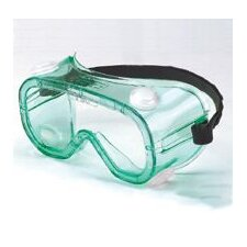 A600 Series Impact Over The Glasses Goggles With Green Frame And Clear Lens