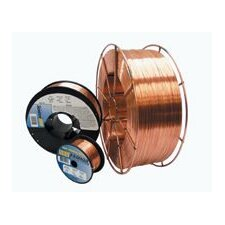 "0.025"" ER70S-6 Radnor® P/3™ S-6 Copper Coated Carbon Steel MIG Welding Wire 2 4"" Plastic Spool"