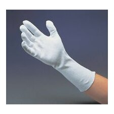 "12"" Medium-Weight Cotton Unhemmed Reversible Inspection Glove"