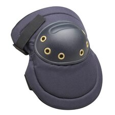 Black Hard PVC Cap Knee Pads With Lightweight Foam Padding, Adjustable Straps And Hook And Loop Closures