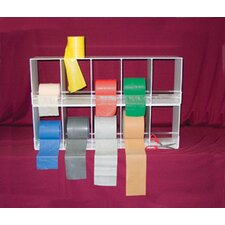 Horizontal Duplex Exercise Band Rack with 10 Bin Universal