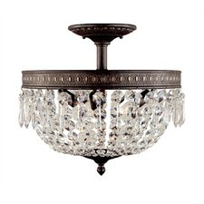 Timeless Elegance 3 Light Semi Flush Mount