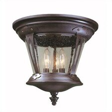 Old World Charm 3 Light Outdoor Flush Mount