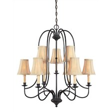 Metalcraft 9 Light Chandelier