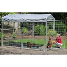 Lucky Dog Galvanized Pet Kennel