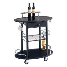 Merino Serving Cart in Black