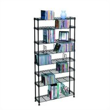 8-Tier Adjustable Multimedia Wire Rack