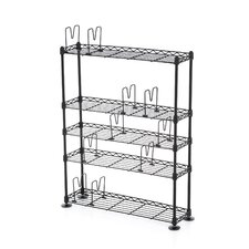 5-Tier Adjustable Multimedia Storage Rack