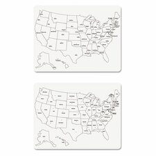 2 Sided U.S. Map Whiteboard