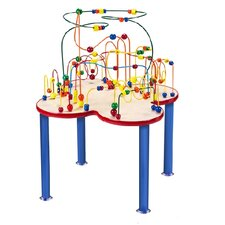 Fleur Rollercoaster Table with Metal Legs