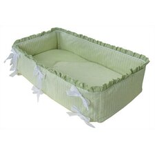Personalized Cradle Linens in Sherbert Celery