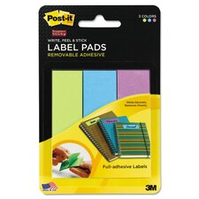 Super Sticky Removable Labels (Pack of 75)