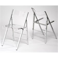 Lucite Folding Side Chairs (Set of 2)