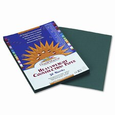 SunWorks Construction Paper, Heavyweight, 9 x 12, Dark Green, 50 Sheets