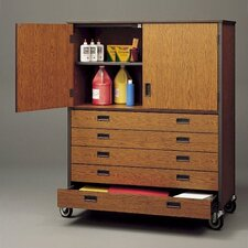 Storage Cabinet with Five Drawers and Shelf
