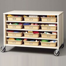Double Sided  Storage Cart with Optional Trays