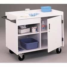 First Aid Rolling Mobile Medical Cabinet