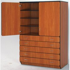 "Illusions 72"" H General Storage Shelf Cabinet with Three Adjustable Shelves"
