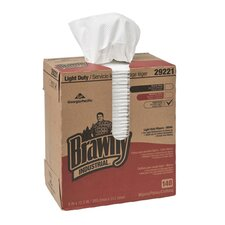 Light Duty Two Ply Paper Wipers in White