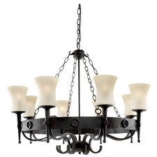 Cartwheel 8 Light Large Chandelier
