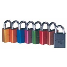 Solid Aluminum Padlocks - black safety lock-out color coded secur