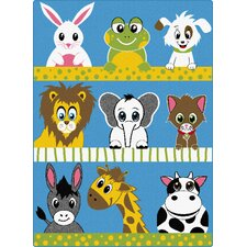 Life Animals Kids Rug