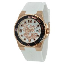 Women's Immersion Koi Watch in White