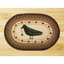 Crow and Star Novelty Rug