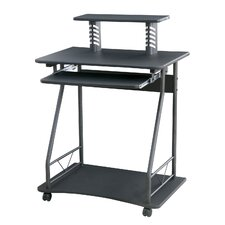 Hazelwood Home Computer Cart 4427 in Black