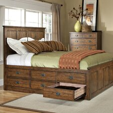 Oakhurst 6 Drawer Storage Panel Bed