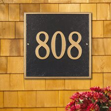 Square Standard Address Plaque