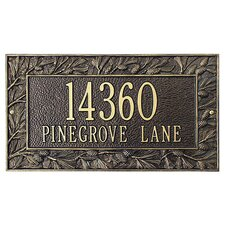Pinecone Frame Standard Address Plaque