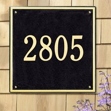 Square Estate Address Plaque