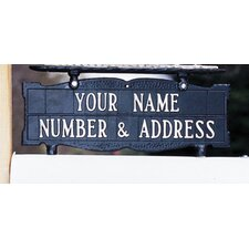 Two-Sided Mailbox Address Topper