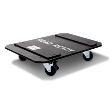 DJ / Mi Slant Rack System - 12U Slant Rack Depth Optional Caster Board with Breaks on Two Wheels
