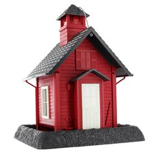 Lil' Red School House Village Collection Bird Feeder