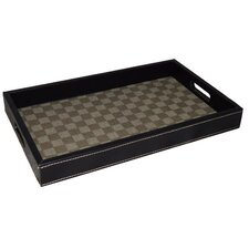 Checkered Rectangular Serving Tray