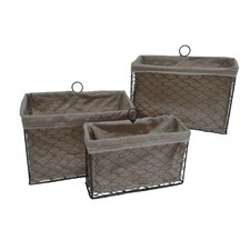 Lined Wire Organizer (Set of 3)