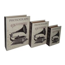 Paris Phonograph Book Box (Set of 3)