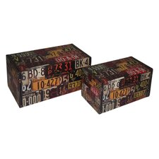 License Plate Treasure Box (Set of 2)
