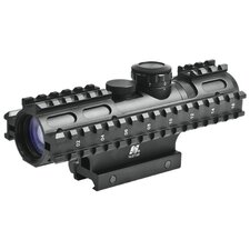 2-7x32 Compact Scope 3 Rail Sighting System / Blue Illuminated P4 / Weaver Mount / in Green