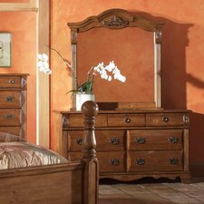 Bella 7 Drawer Dresser and Mirror Set