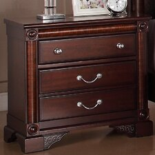 Ramsey 3 Drawer Nightstand