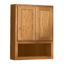 "Bostonian Series 24"" x 30"" Red Oak Over the Toilet Cabinet in Honey Oak Finish"