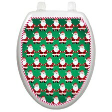 Holiday Santa Line Dancing Toilet Seat Decal