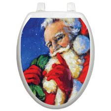 Holiday Secret Santa Toilet Seat Decal
